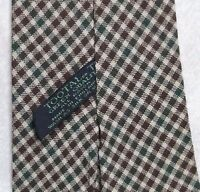 Vintage TOOTAL Tie Mens Necktie Retro Fashion GREEN QUALITY BROWN GREEN CHECKED