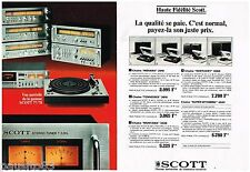 PUBLICITE ADVERTISING 095  1977   SCOTT  HI-FI   tuner T 526l  ( 2 pages)