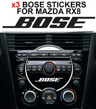 MAZDA RX8 BOSE DASH STICKER X3 DECAL FOR HEAD UNIT CD Player AUX STEREO AUDIO