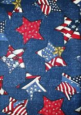 American Flag Fabric Americana Stars & Stripes RED WHITE BLUE -  BTY
