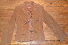 JENNYFER J Women's Leather Jacket Beige Western Look Size Small