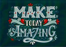Make Today Amazing Blank Note Card With Envelope