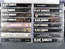 Black Sabbath Cassette Tapes Lot Of 19 heaven never mob live hits master self 2b