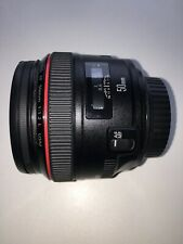 Canon EF 50mm f/1.2L USM Lens Mint condition inc Lens case and Lens Hood and Box