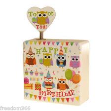 Happy Birthday Owl Traditional Music Box