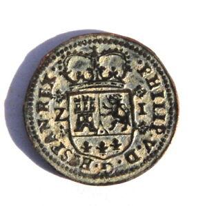 1719 Spain 1 Maravedi Philip V Castle and Lion Coin