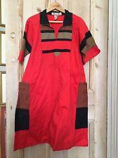 Vintage Vestido De Algodón schmocks Original 1970s