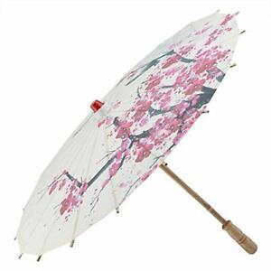 """22"""" Handmade Oiled Paper Umbrella Chinese Art Classical Dance Umbrella Plum"""