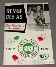 1962-63 AHL Quebec Aces Program Danny Lewicki Cover