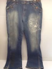 Southpole Women's Jeans Boot Cut Size 13  Embellished Denim