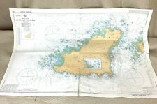 1979 Vintage Maritime Map The Channel Islands Guernsey Herm Old Admiralty Chart