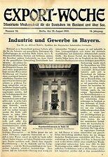 Dr.jur. Alfred Kuhlo Industrie und Gewerbe in Bayern Eröffnung Ausstellung 1912