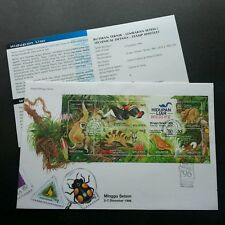 Wildlife 1996 Malaysia Birds Monkey Butterfly Civet Bug Insect (FDC) *dual PMK