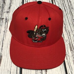 Vintage Portland Beavers Minor League Snapback Made in USA Hat Cap Red