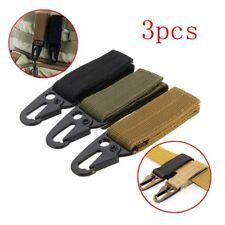 New 3pcs Molle Military Nylon Webbing Clip Belt Key Hook Buckle Strap Carabiner