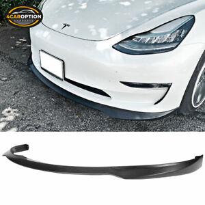 Fits 17-21 Tesla 3 IKON Style Front Bumper Lip Splitter Unpainted PP