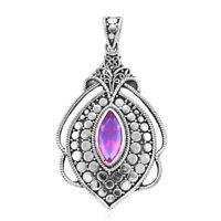 BALI LEGACY 925 Sterling Silver Triplet Quartz Pendant Jewelry for Women Ct 2.1