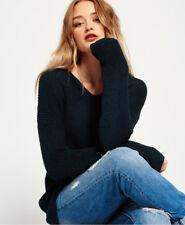6a62bcc892722 New Womens Superdry Almeta V-Neck Knit Jumper Teal Twist