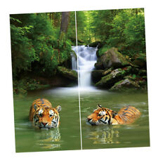 "Window Decorative Polyester 3D Tigers Blackout Curtain, 2Panels (59""Wx65""L)"