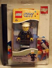 """ Brand New "" Lego Retractable Pen "" CITY "" NIB 2012! with Notebook"