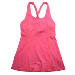 Lululemon Pink Racerback Womens Yoga Tank Top • Size 2