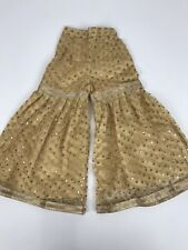 Wedding  Party wear One Time Girls Gold Sharara Pants buy Pants Size 26 Fits 4-5