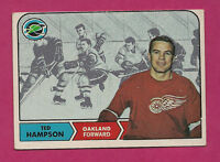 1968-69 TOPPS # 85 SEALS TED HAMPSON EX+ CARD  (INV#0488)