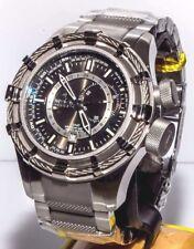 Invicta 6435 Reserve Bolt GMT SS Grey Dial Men's Watch + 1-Slot Dive Case