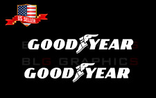 Goodyear 2x 9 Stickers Decal Decals Sticker Wheels Racing Tire