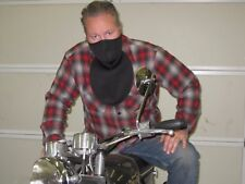 Neoprene Black Half Face Mask w Chest Neck cold wind weather shield motorcycle