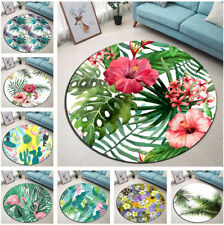 Tropical Palm Leaves Fl Cactus Round Floor Mat Living Room Area Rugs Carpet