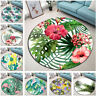 Tropical Palm Leaves Floral Cactus Round Floor Mat Living Room Area Rugs Carpet
