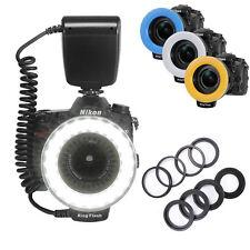 Macro Ring LED Flash Light + 8 Adapter Rings For Canon Nikon Pentax DSLR Camera