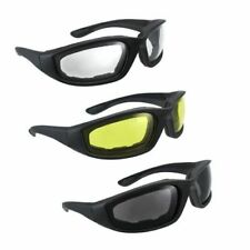3 Pair combo Motorcycle Riding Glasses Wind Resistant padded Comfortable, jetski