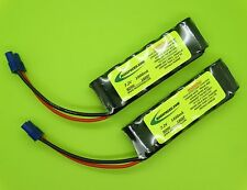 (2 PACKS) 7.2V 1600 BATTERIES FITS LOSI MINI 8IGHT BUGGY / EC3 / MADE IN USA