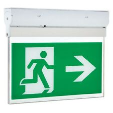 Hispec LED 3w Emergency Exit Sign Light Arrow Left or Right Non or Maintained