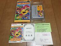 Hello!! PACMAN Japan Super Famicom SNES BOX and Manual