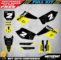 Custom decal Kit to Fit Suzuki RMZ 250 2004 2005 2006 BASE STYLE stickers