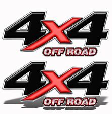 "4X4 OFFROAD Truck Bed DECALS STICKERS Set of 2  Adhesive  13"" x 5.5""   Mk001OR4"