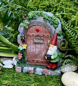 Large Miniature Fairy Garden Door Gnome Village Stone Door NEW