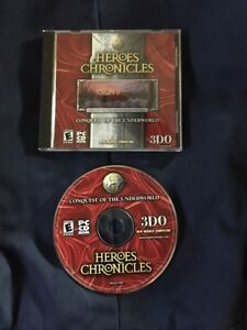 HEROES CHRONICLES  Conquest Of The Underworld PC CD ROM GAME PREOWNED FREE SHIP