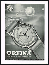 1940s Vintage 1946 Orfina Automatic Swiss Watch Mid Century Art Print Ad
