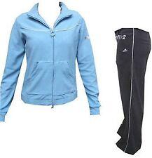 """Adidas Training/Sport/Wellnessanzug """"Young Knit"""" Größe 34/36 Grau-Hellblau"""
