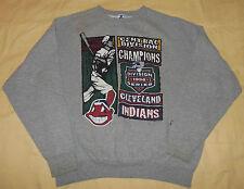 Vtg 1996 MLB Starter Cleveland Indians Sweater Shirt Central AL Champs XL Mens
