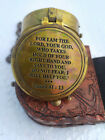 for I am The Lord Your God Engraved Compass, with Leather Case, Pocket Compass