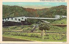 A Modern Coal Operation in West Virginia Postcard