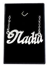 Collier Prénom NADIA 18K Plaqué or blanc - Arabe Musulman Accessoires De mariée