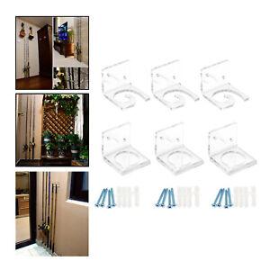Fishing Rod Rack Wall Mount Acrylic Fishing Rod Display Storage Rack Bracket