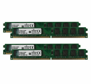 8GB Kit(4x2GB) For kingston PC2-6400U DDR2 800MHz 240pin DIMM RAM Desktop Memory