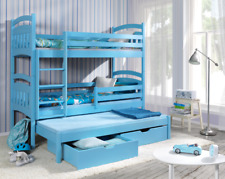 Bunk Bed Jac 3 Triple Sleeper 3ft Single Children Bedroom Many Colours